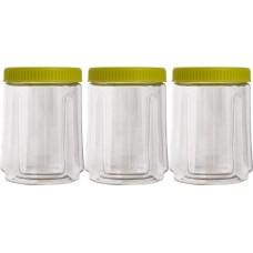 Набор банок для сыпучих продуктов 3шт. 0,75л./оливковый/Пластик Репаблик/1/4