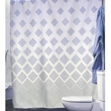 Штора для ванной 180*200 см./голубой/Miranda/Турция/Евроторг/1/35