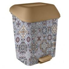 Ведро для мусора с педалью 15л. 28*33*41см./марокко/Декор/Svip/Пластик Репаблик/1/2