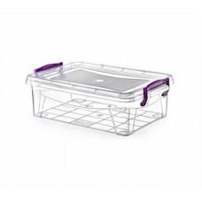 Контейнер для хранения прямоугольный №0 0,9л. 18*11*8см./прозрачный/HIDE BOX/Росспласт/1/24