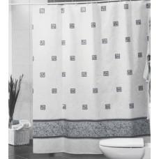 Штора для ванной 180*200см./серый/Miranda/Турция/Евроторг/1/35
