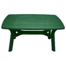 Стол пластиковый прямоугольный 140*80*73см./зелёный/Анталия/Эльфпласт/1/1