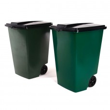 Бак для мусора пластиковый 120л. 56*50,6*72см./микс/Элластик пласт/1/8