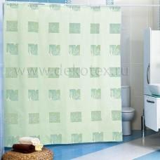Штора для ванной 180*200 см./зеленый/Miranda/Турция/Евроторг/1/35